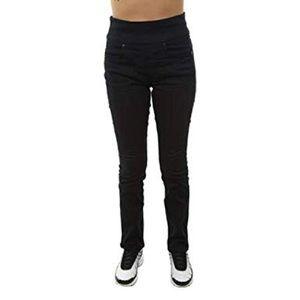 Spandex high waisted stretch side zip jeans medium